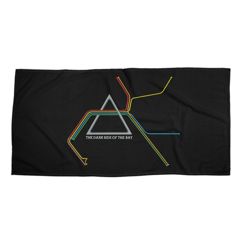 Dark Side of the Bay Accessories Beach Towel by rego's Artist Shop