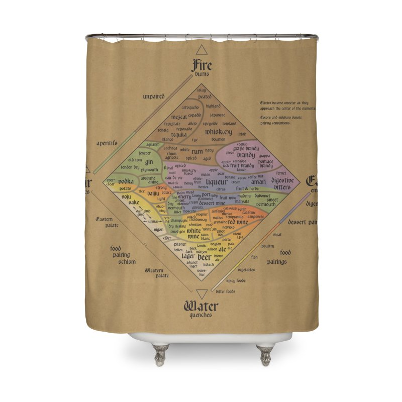 The Alchemist's Guide to Alcoholic Beverages Home Shower Curtain by rego's Artist Shop
