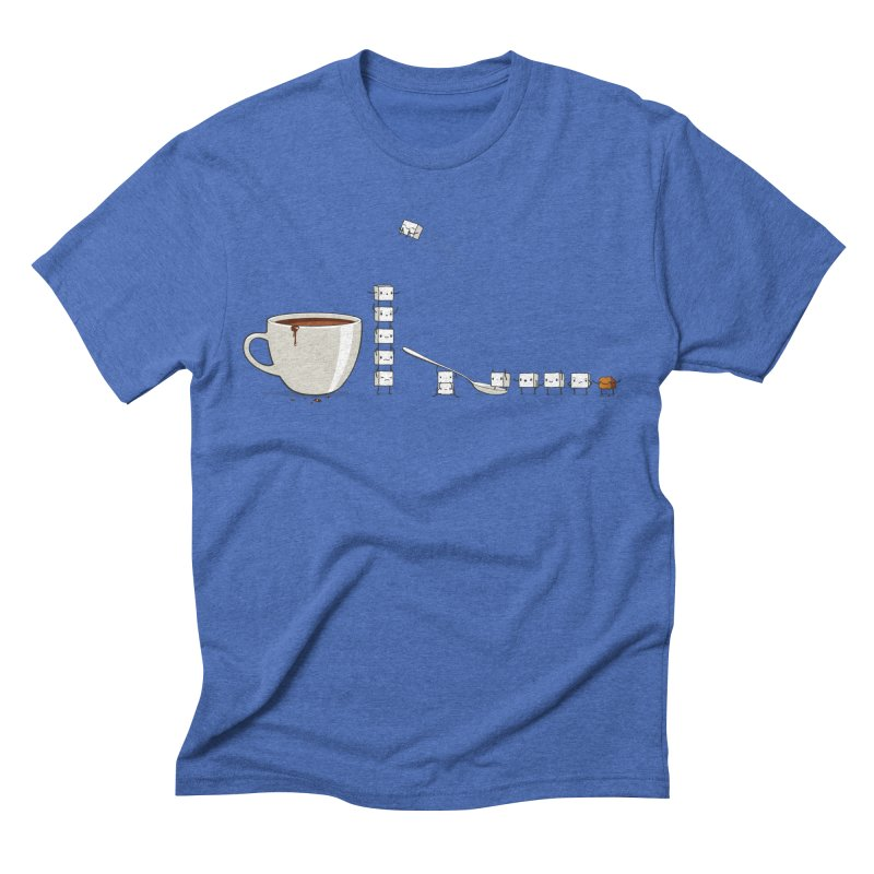 "Sugar Fun ""Coffee Break"" Men's Triblend T-shirt by Reina Loca's Artist Shop"