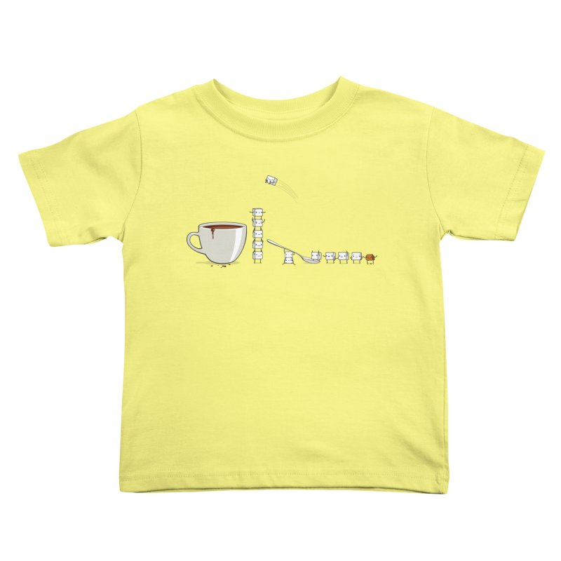 "Sugar Fun ""Coffee Break"" Kids Toddler T-Shirt by Reina Loca's Artist Shop"