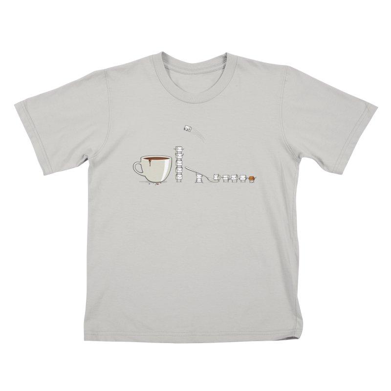 "Sugar Fun ""Coffee Break"" Kids T-Shirt by Reina Loca's Artist Shop"