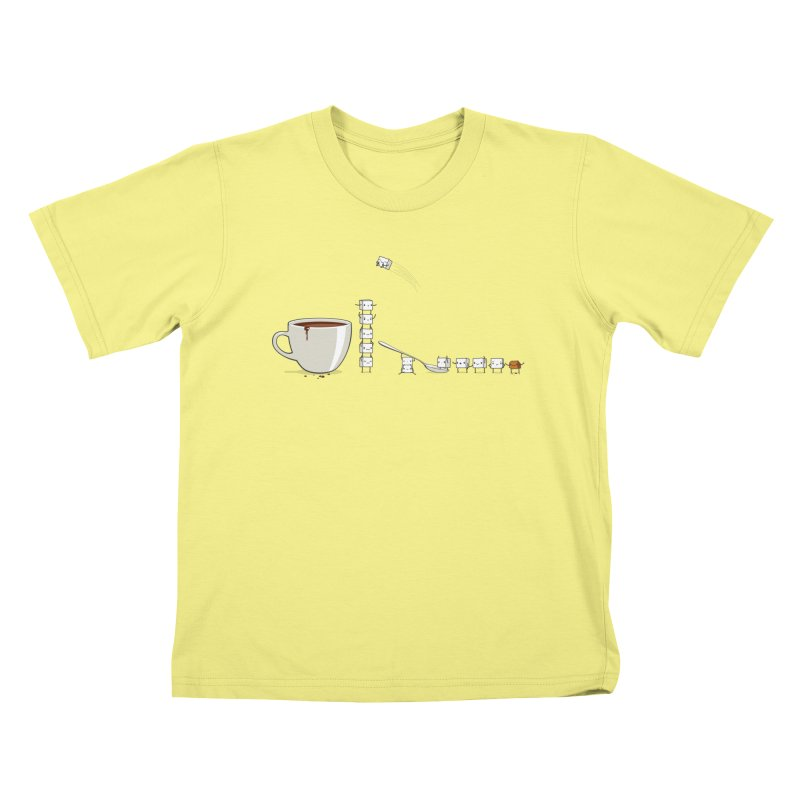 "Sugar Fun ""Coffee Break"" Kids T-shirt by Reina Loca's Artist Shop"