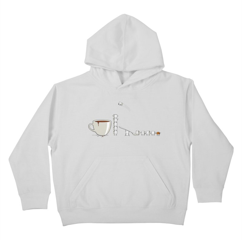 "Sugar Fun ""Coffee Break"" Kids Pullover Hoody by Reina Loca's Artist Shop"