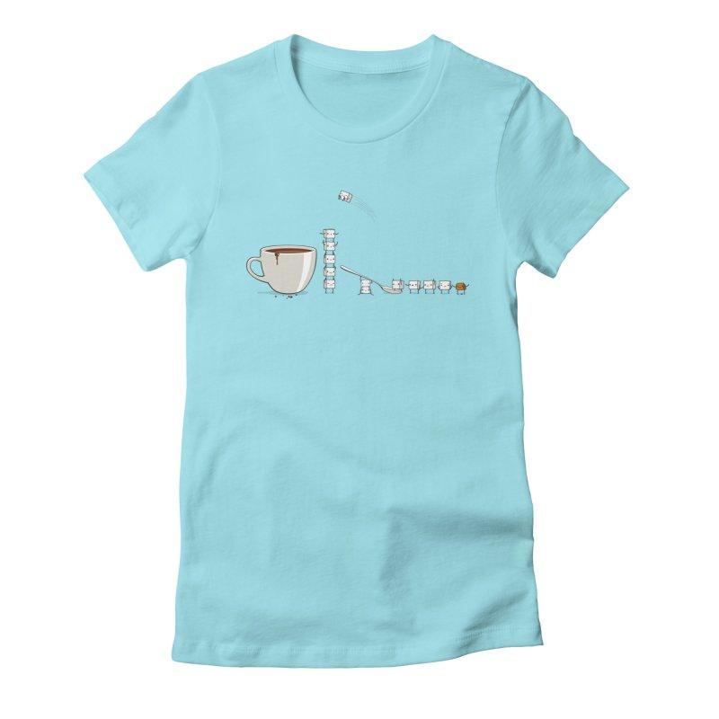 "Sugar Fun ""Coffee Break"" Women's Fitted T-Shirt by Reina Loca's Artist Shop"