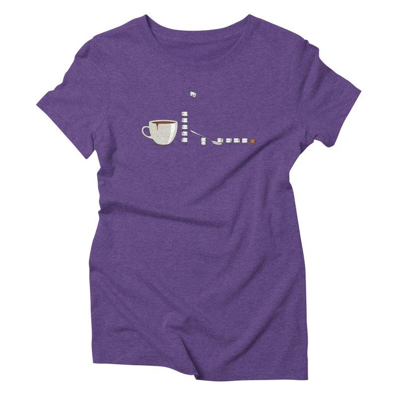 "Sugar Fun ""Coffee Break"" Women's Triblend T-Shirt by Reina Loca's Artist Shop"