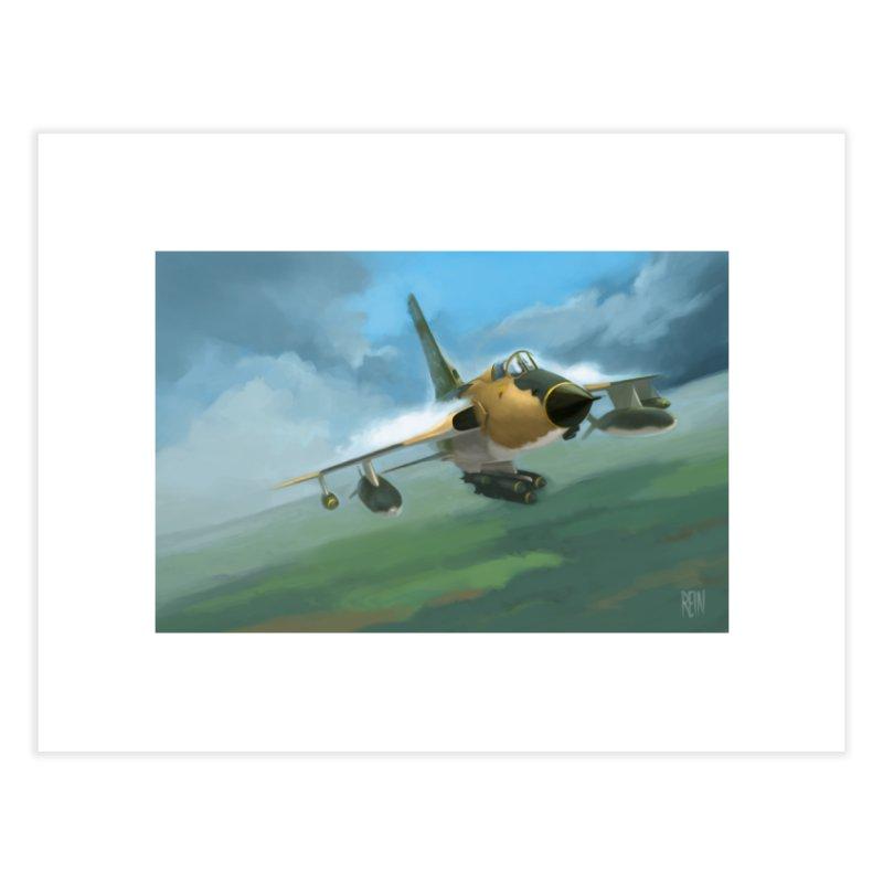 F-105 Thunderchief Home Fine Art Print by Rein Design's Shop