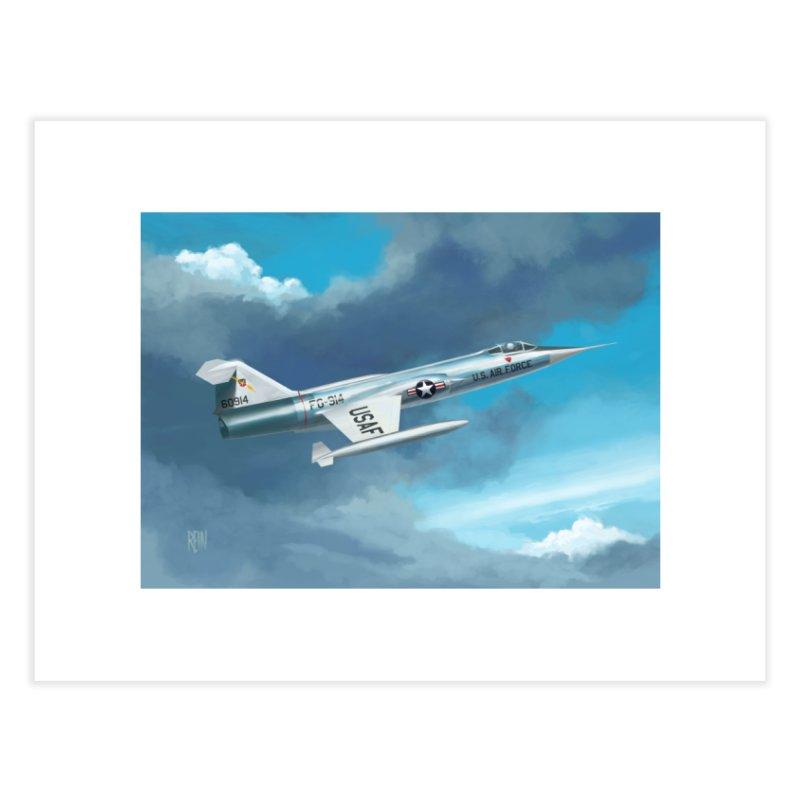 F-104 Starfighter Home Fine Art Print by Rein Design's Shop