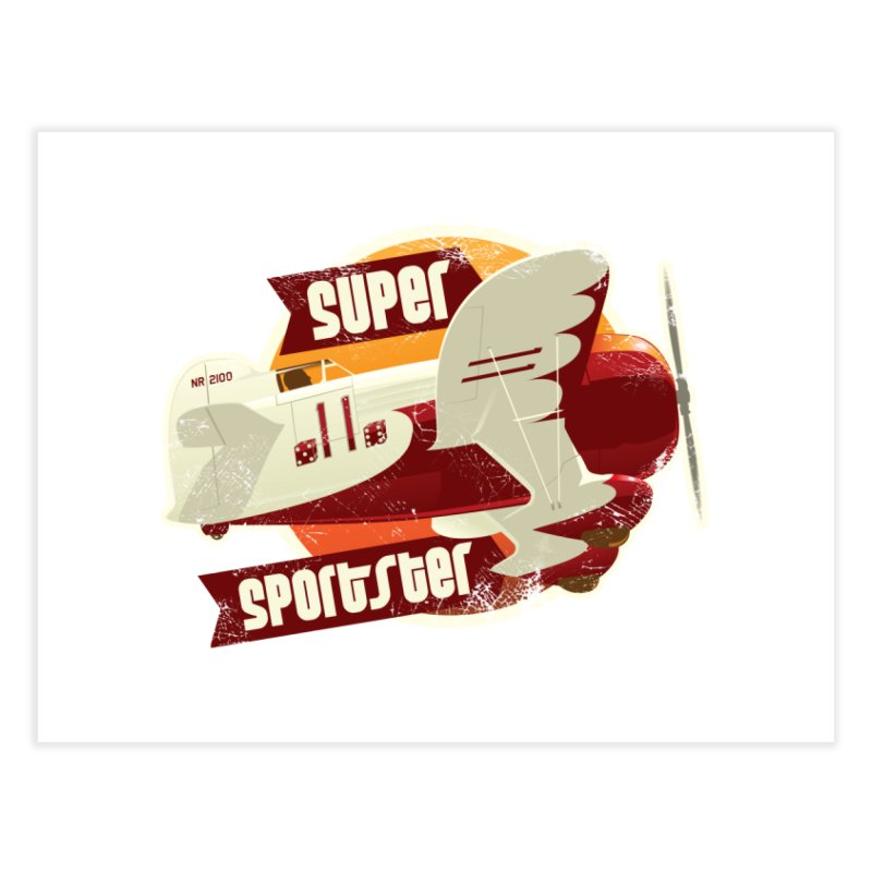 Gee Bee Super Sportster Home Fine Art Print by Rein Design's Shop
