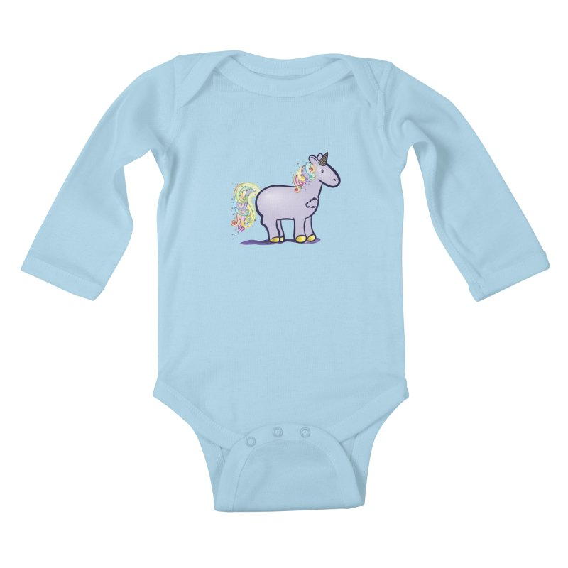 Super-Magical-Amazing-Dream-Waffle-Cone Kids Baby Longsleeve Bodysuit by Relyea Arts's Artist Shop
