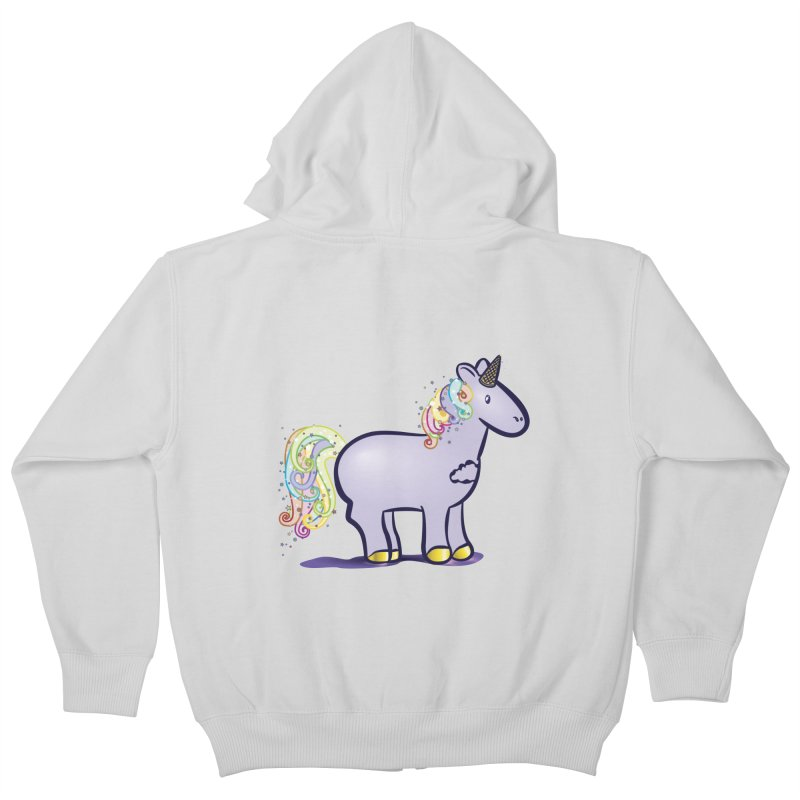 Super-Magical-Amazing-Dream-Waffle-Cone Kids Zip-Up Hoody by Relyea Arts's Artist Shop