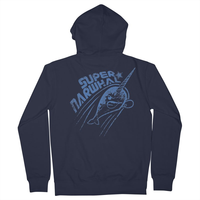 Super Narwhal Women's Zip-Up Hoody by Relyea Arts's Artist Shop