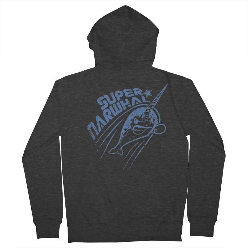 Super Narwhal Men's Zip-Up Hoody by Relyea Arts's Artist Shop