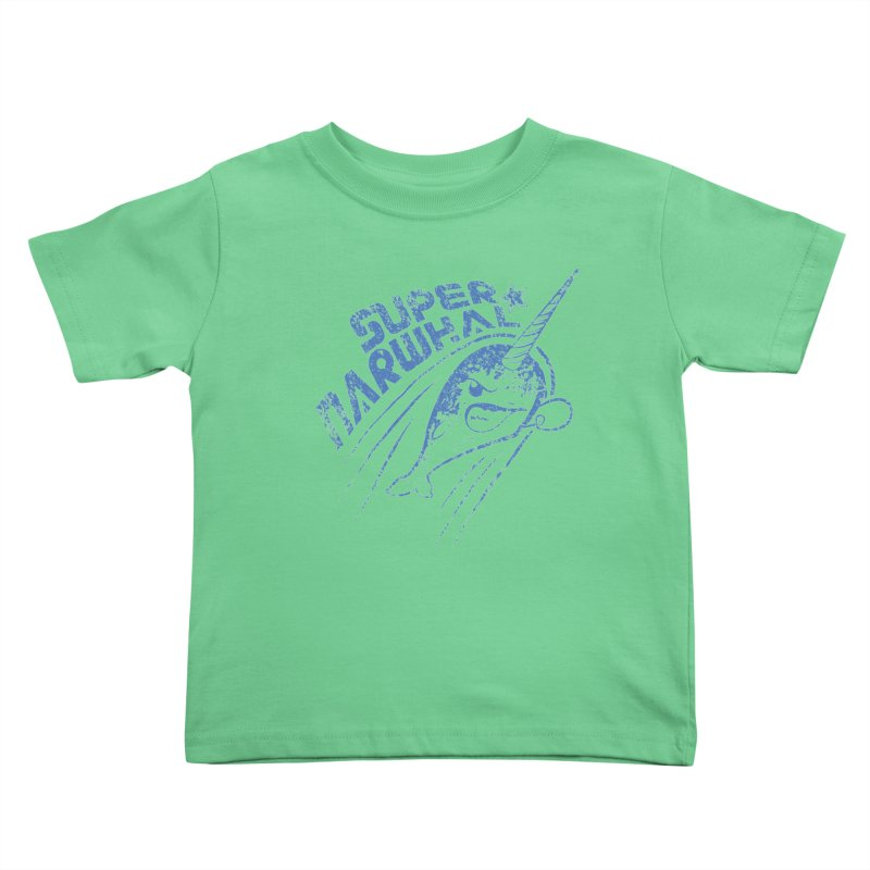 Super Narwhal Kids Toddler T-Shirt by Relyea Arts's Artist Shop