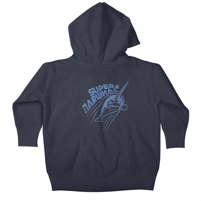 Super Narwhal Kids Baby Zip-Up Hoody by Relyea Arts's Artist Shop