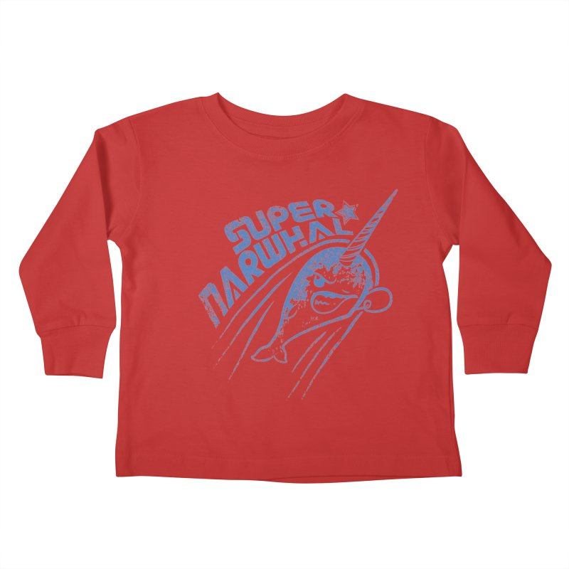 Super Narwhal Kids Toddler Longsleeve T-Shirt by Relyea Arts's Artist Shop