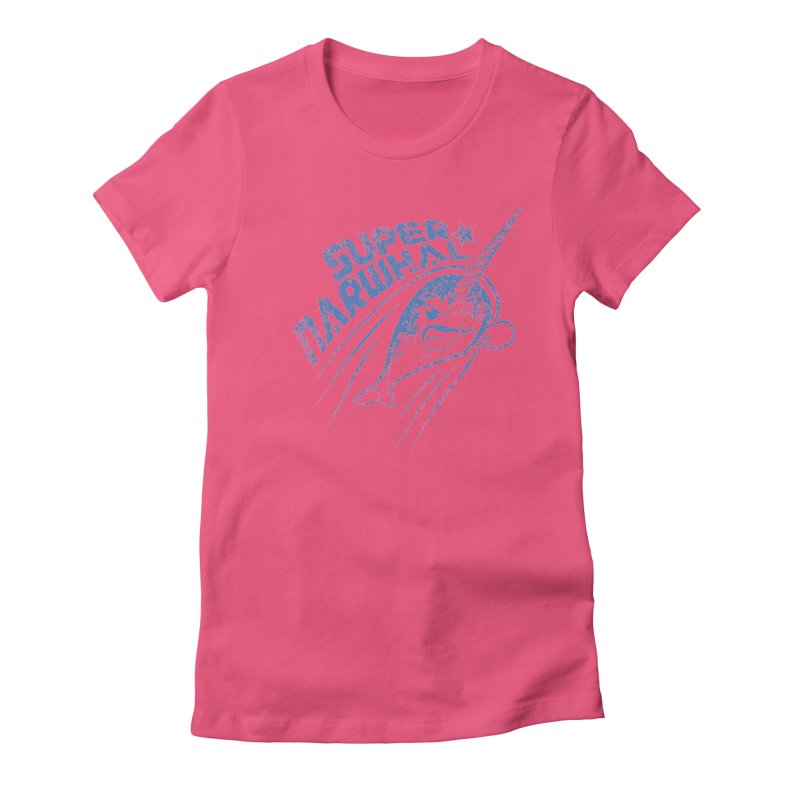 Super Narwhal Women's Fitted T-Shirt by Relyea Arts's Artist Shop