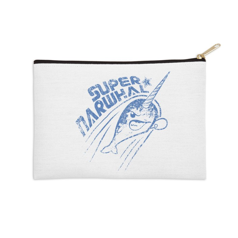 Super Narwhal Accessories Zip Pouch by Relyea Arts's Artist Shop