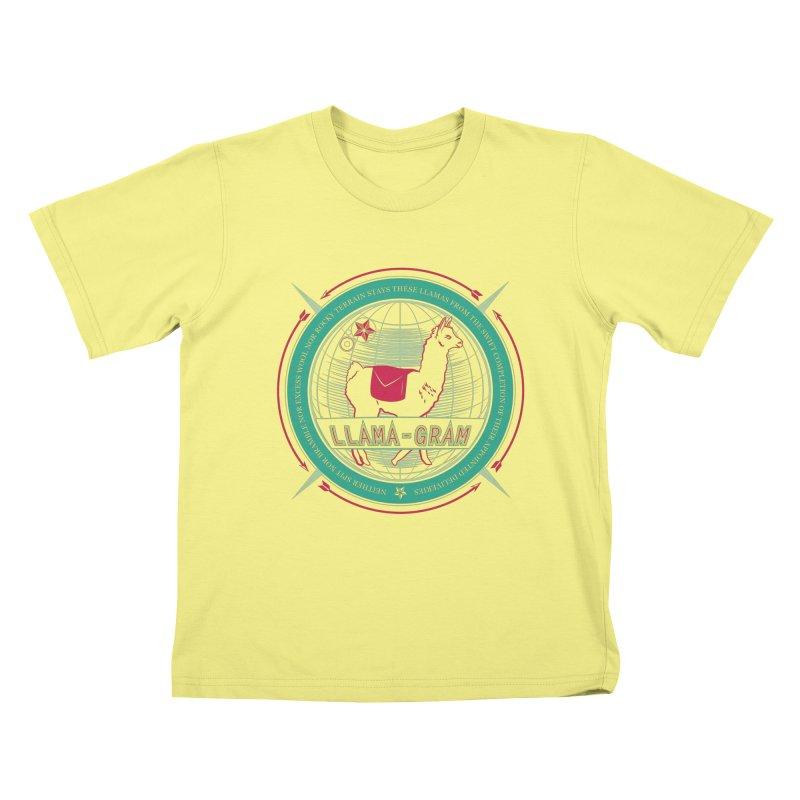 Llama-Gram Kids T-shirt by Relyea Arts's Artist Shop