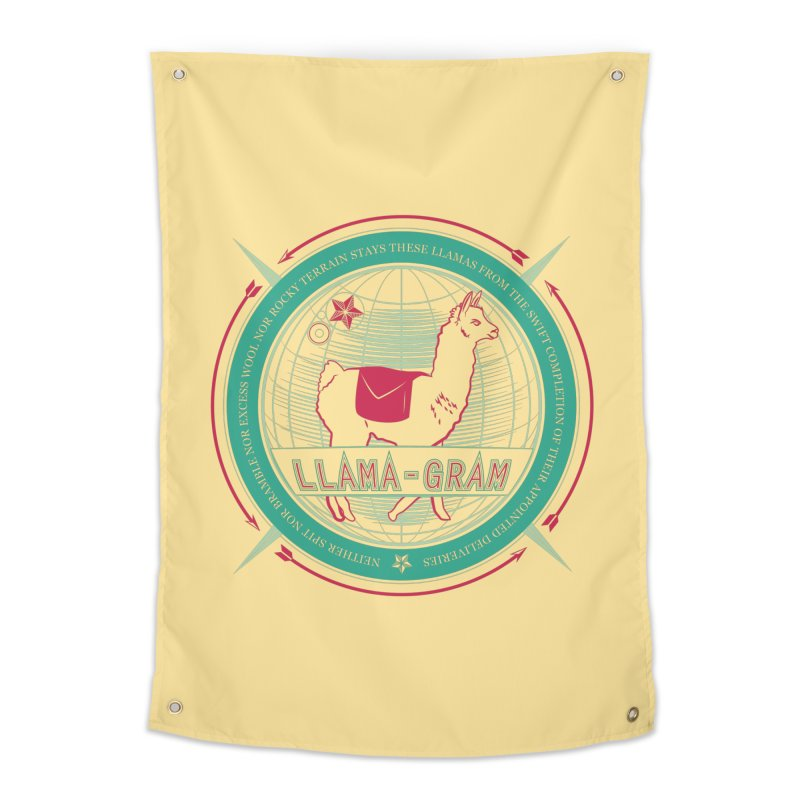 Llama-Gram Home Tapestry by Relyea Arts's Artist Shop