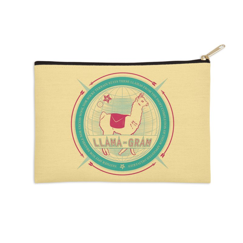 Llama-Gram Accessories Zip Pouch by Relyea Arts's Artist Shop