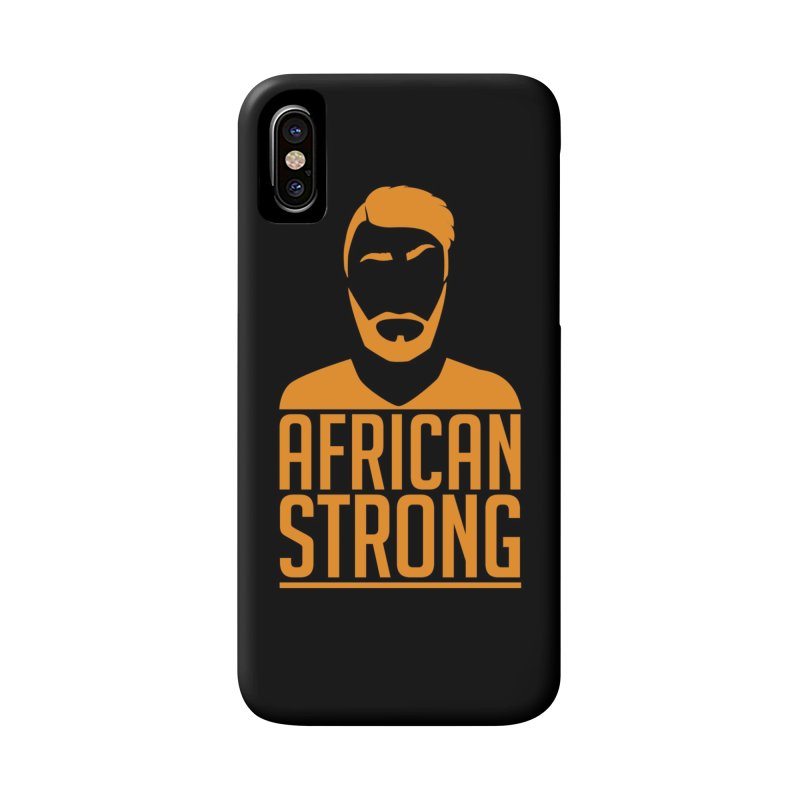 African Strong (Orange) in iPhone X / XS Phone Case Slim by Renaldo Gouws