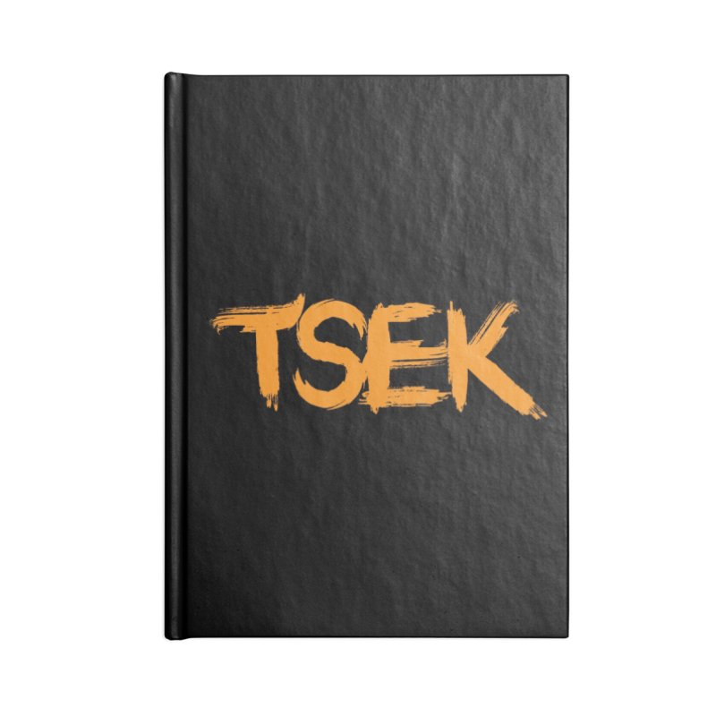 Tsek Font in Lined Journal Notebook by Renaldo Gouws