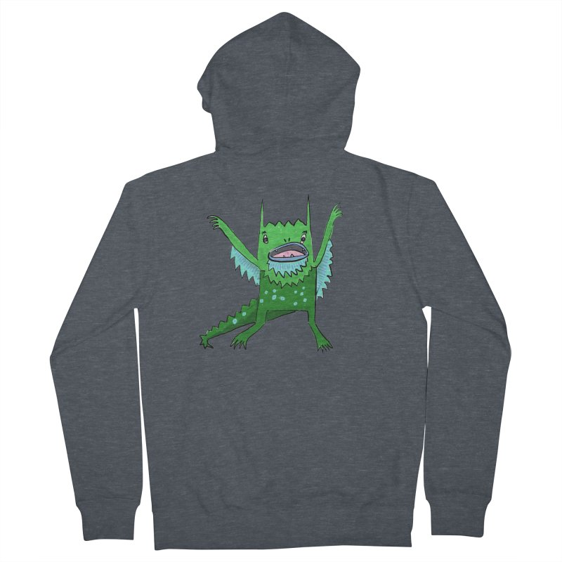 Little Monster Men's Zip-Up Hoody by Renee Leigh Stephenson Artist Shop