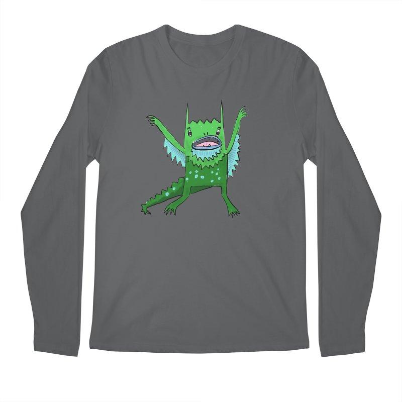 Little Monster Men's Longsleeve T-Shirt by Renee Leigh Stephenson Artist Shop