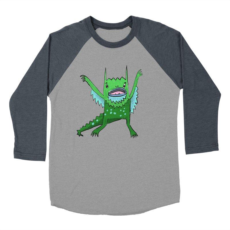 Little Monster Women's Baseball Triblend T-Shirt by Renee Leigh Stephenson Artist Shop