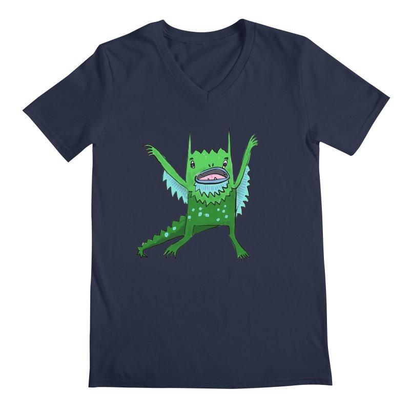 Little Monster Men's V-Neck by Renee Leigh Stephenson Artist Shop