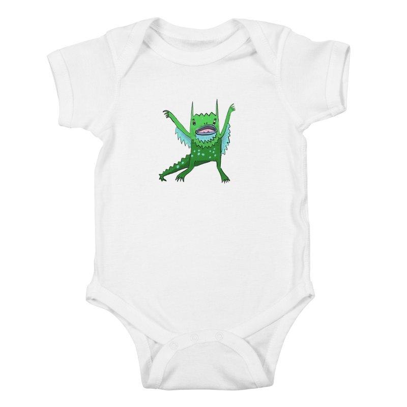 Little Monster Kids Baby Bodysuit by Renee Leigh Stephenson Artist Shop