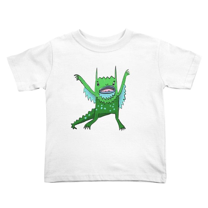 Little Monster Kids Toddler T-Shirt by Renee Leigh Stephenson Artist Shop
