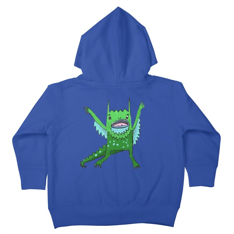 Little Monster Kids Toddler Zip-Up Hoody by Renee Leigh Stephenson Artist Shop