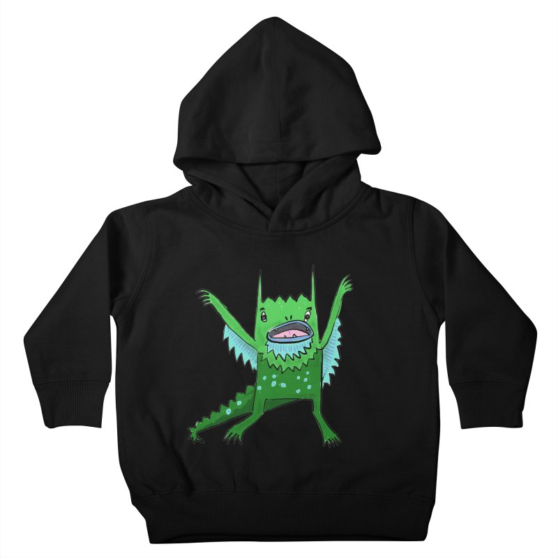 Little Monster Kids Toddler Pullover Hoody by Renee Leigh Stephenson Artist Shop