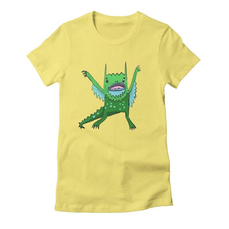 Little Monster Women's Fitted T-Shirt by Renee Leigh Stephenson Artist Shop