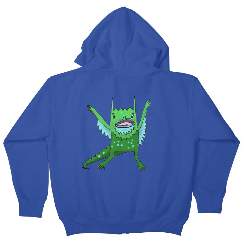 Little Monster Kids Zip-Up Hoody by Renee Leigh Stephenson Artist Shop