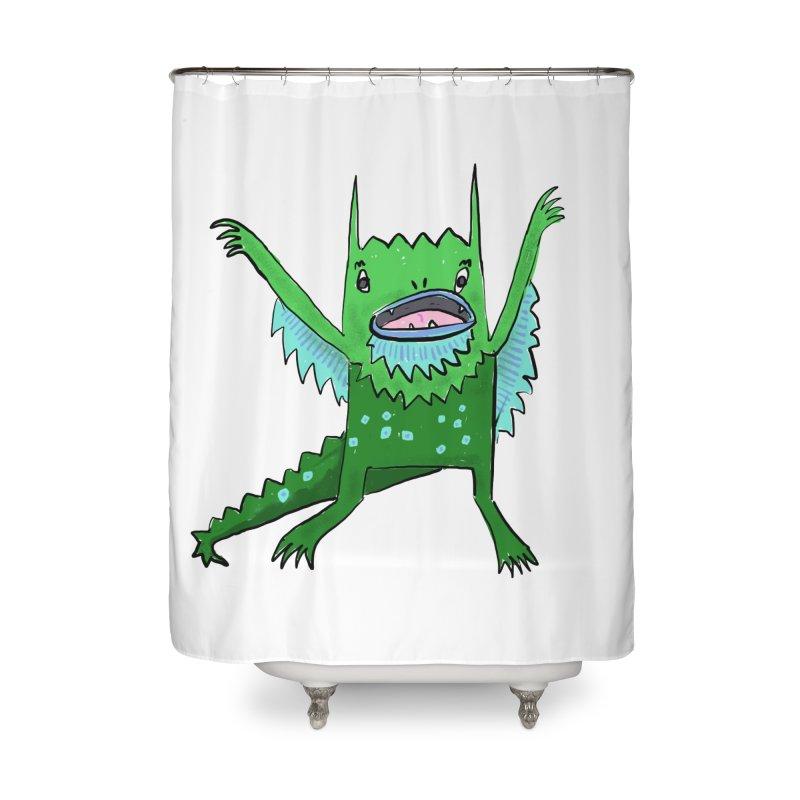 Little Monster Home Shower Curtain by Renee Leigh Stephenson Artist Shop