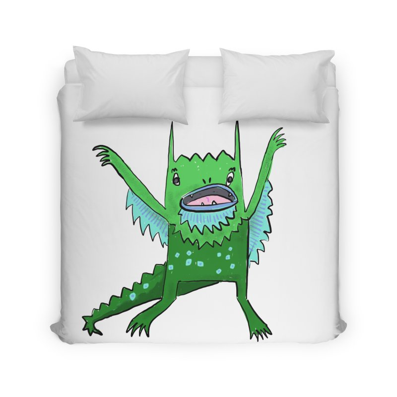 Little Monster Home Duvet by Renee Leigh Stephenson Artist Shop