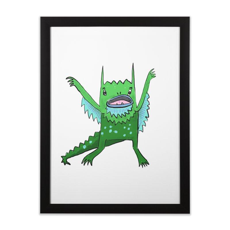 Little Monster Home Framed Fine Art Print by Renee Leigh Stephenson Artist Shop