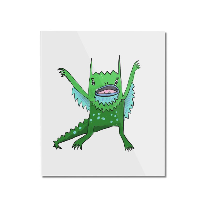 Little Monster Home Mounted Acrylic Print by Renee Leigh Stephenson Artist Shop