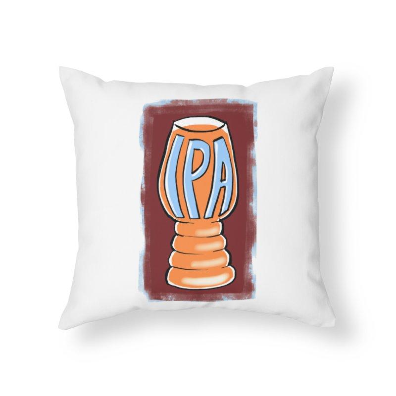 IPA Home Throw Pillow by Renee Leigh Stephenson Artist Shop