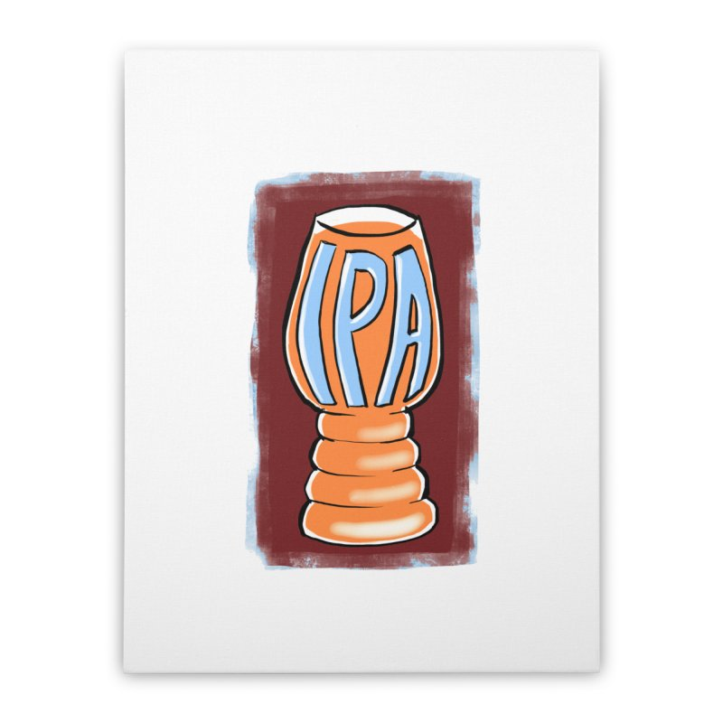 IPA Home Stretched Canvas by Renee Leigh Stephenson Artist Shop