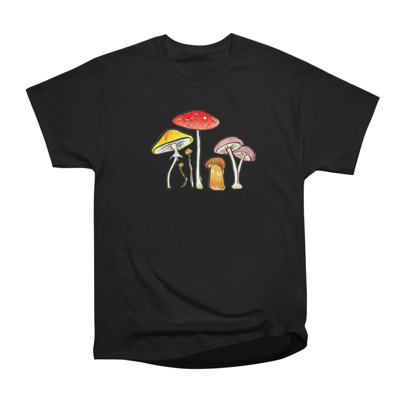 Woodland Mushrooms Women's Classic Unisex T-Shirt by Renee Leigh Stephenson Artist Shop