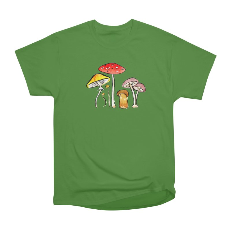 Woodland Mushrooms Men's Classic T-Shirt by Renee Leigh Stephenson Artist Shop