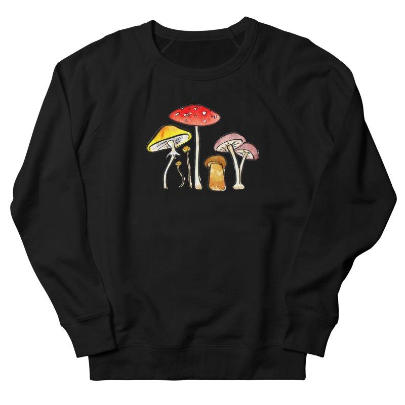 Woodland Mushrooms Women's Sweatshirt by Renee Leigh Stephenson Artist Shop