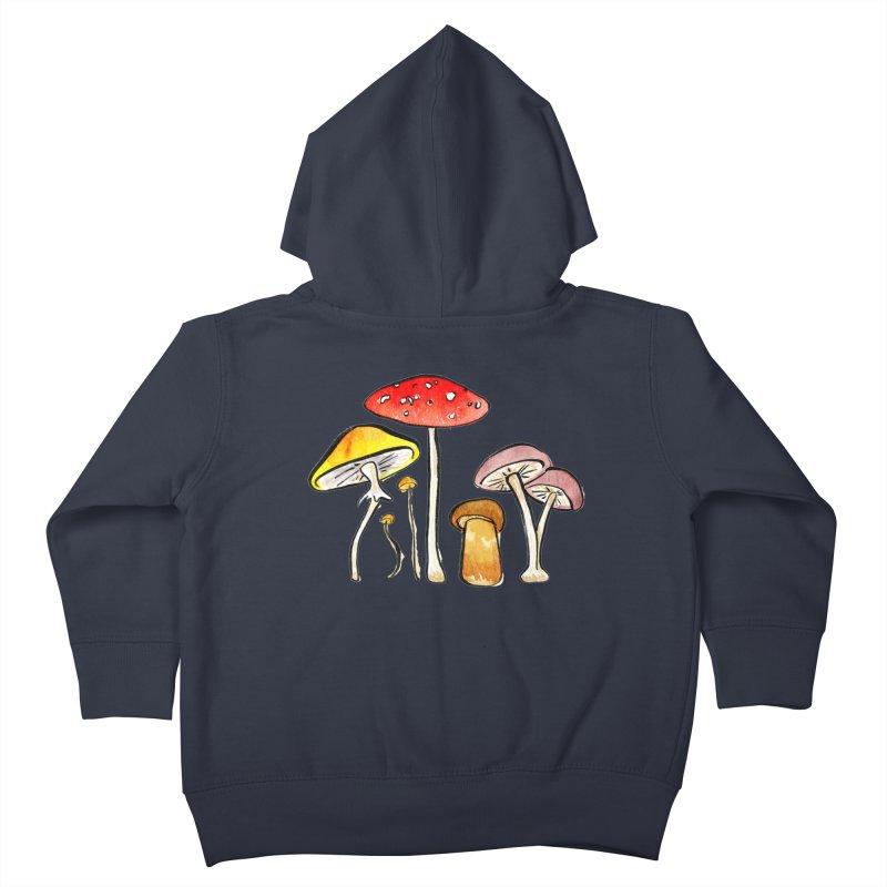 Woodland Mushrooms Kids Toddler Zip-Up Hoody by Renee Leigh Stephenson Artist Shop