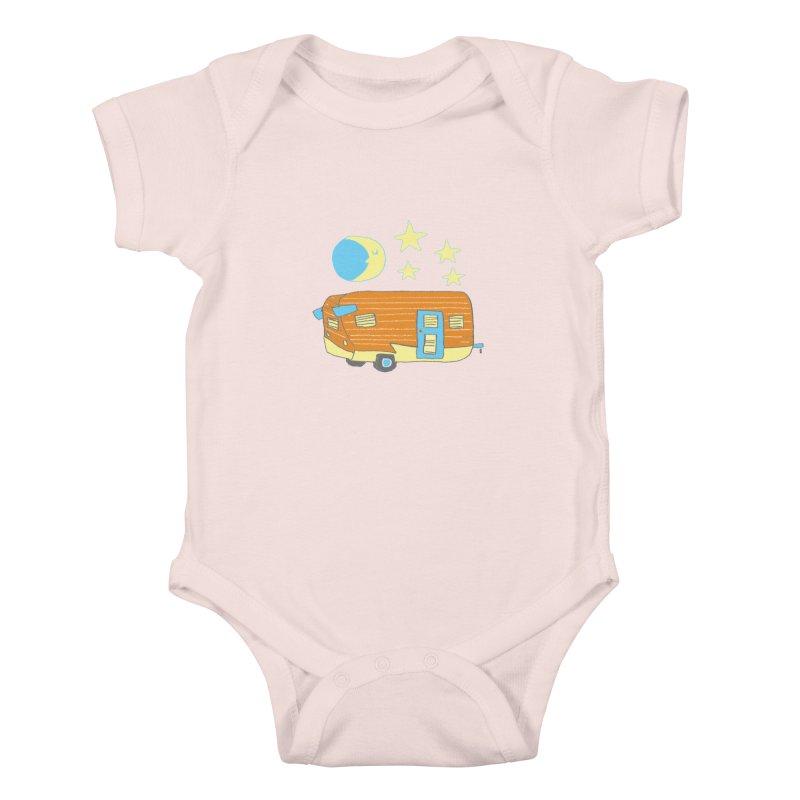 Camp Kids Baby Bodysuit by Renee Leigh Stephenson Artist Shop