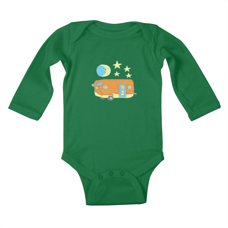 Camp Kids Baby Longsleeve Bodysuit by Renee Leigh Stephenson Artist Shop
