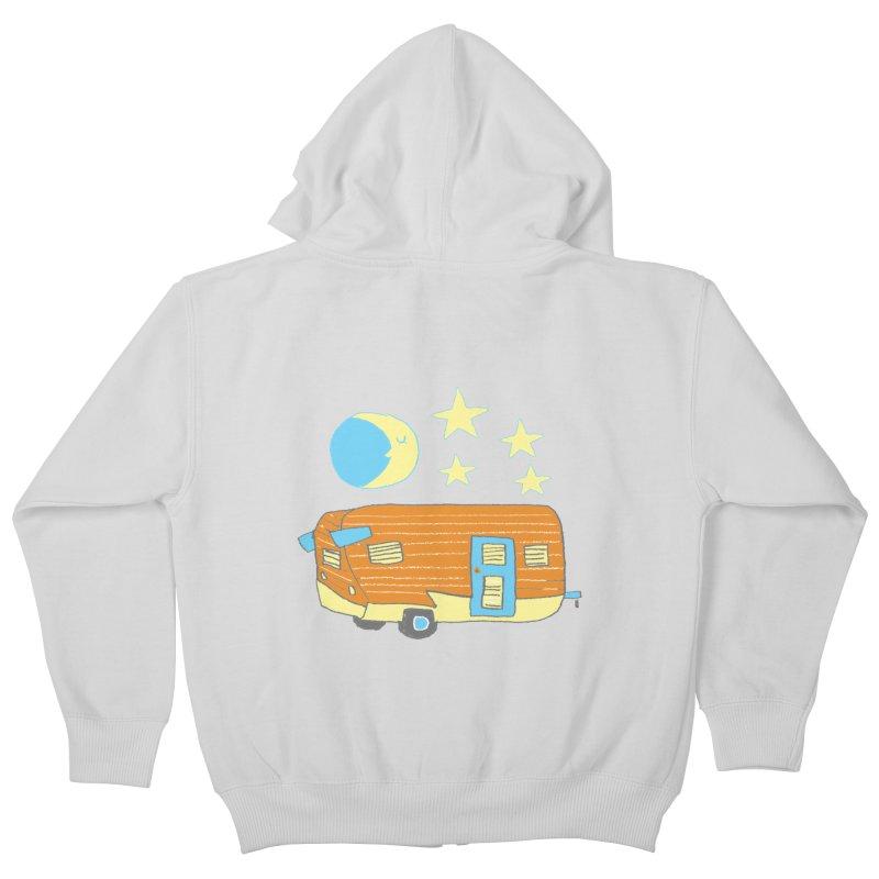 Camp Kids Zip-Up Hoody by Renee Leigh Stephenson Artist Shop