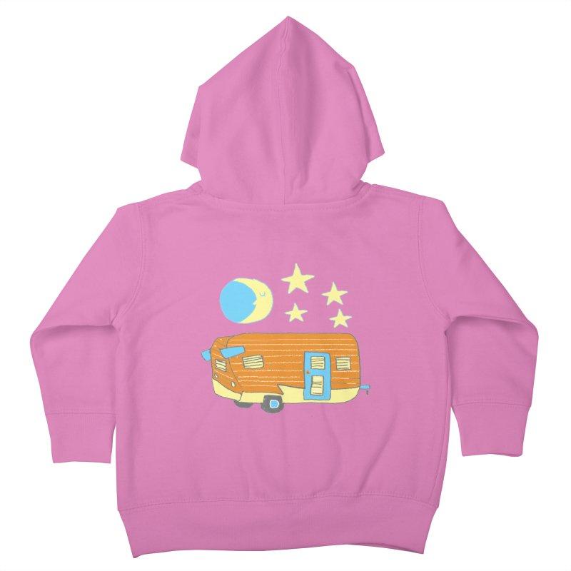 Camp Kids Toddler Zip-Up Hoody by Renee Leigh Stephenson Artist Shop